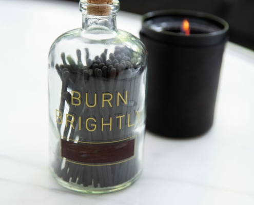 Burn Brightly Matches & Scented Candle