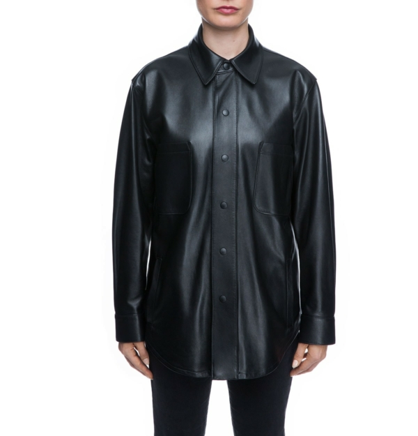 NK x Roots Leather Shirt-Jacket