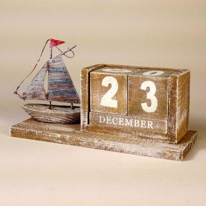 House boat block calendar