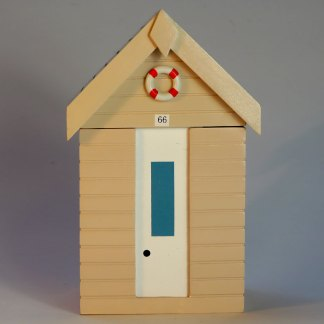 Beach Hut Storage Box in Pastel Sand