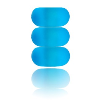 Aqua Sea Glass Nalu Spacer Beads