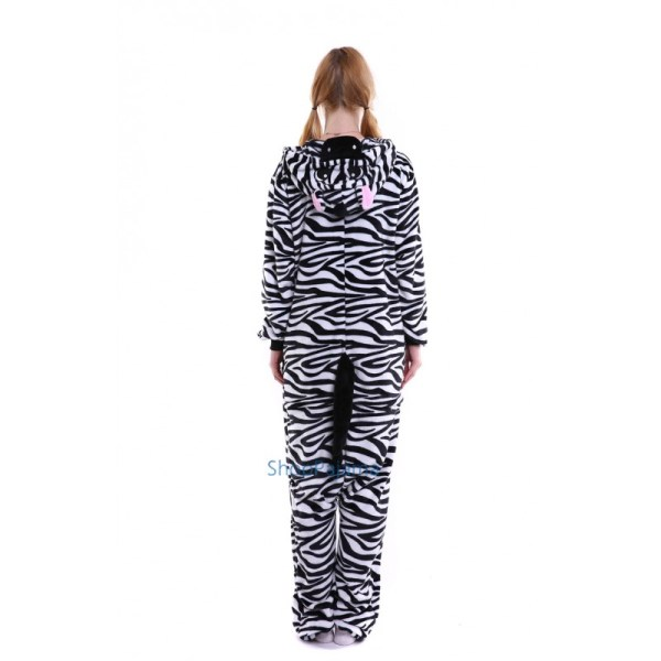 Zebra Kigurumi Onesie Pajama Adult Costume