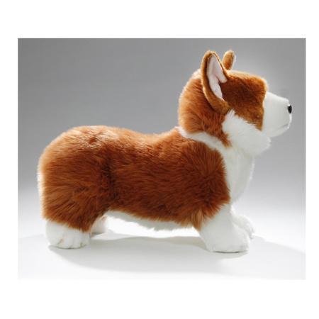 Pluche bruin/witte Corgi hond/honden knuffel 35 cm speelgoed bij kerst-artikelen.nl.