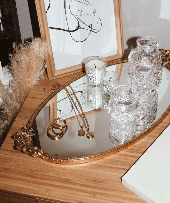 Sieraden organizer spiegel