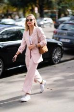 Soft pink suit outfit