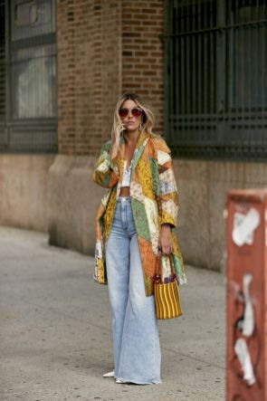 Flared Denim Street Style