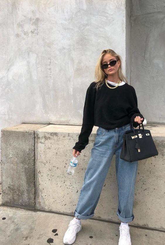 Jeans wijde pijpen dragen combineren