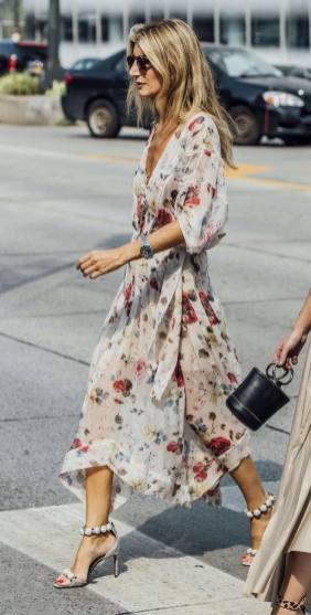 Bloemenprint bruiloft jurken