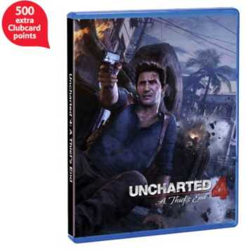 Uncharted 4 pre order 500 extra clubcard points