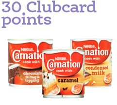 carnation 30 clubcard points