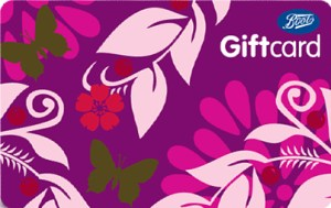Boots gift card