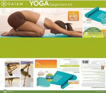 gaiam yoga beginners kit tesco