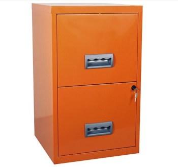 Pierre Henry A4 2 drawer Maxi Filing Cabinet Orange