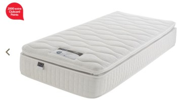 2 000 clubcard points with silentnight mattress or divan for Cheapest divan beds with drawers