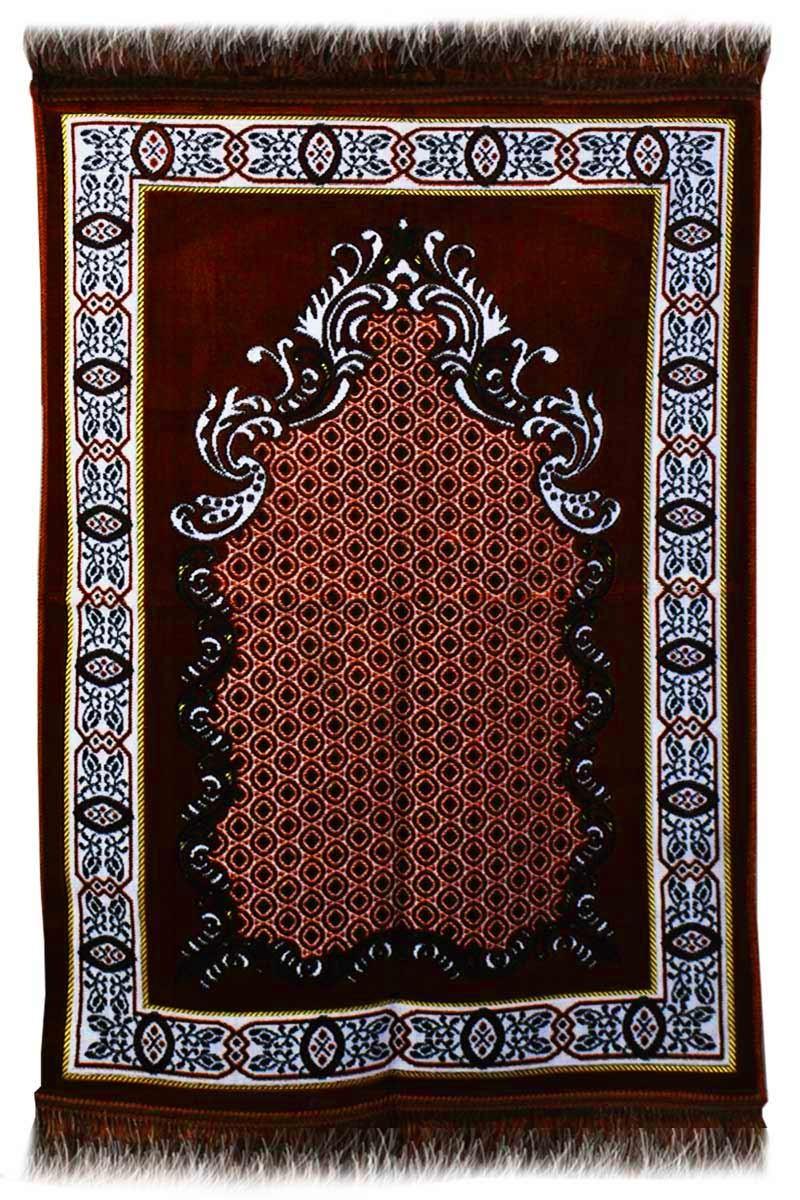 AYDIN Janamaz  Plush Velvet Muslim Prayer Rug From Turkey