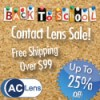 Contact Lens Back-to-School Savings