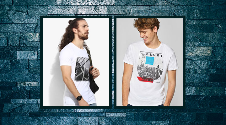 best printed white t shirt for men