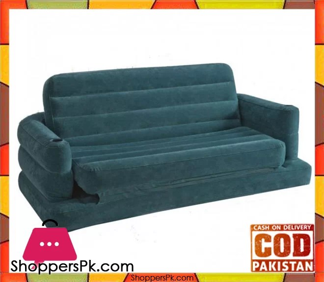 Intex Two Person Inflatable Pull Out Sofa Bed 68566