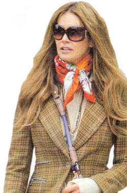 Elle Macpherson scarf Aspinal of London  ShoppingandInfocom