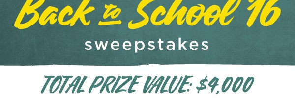 Bluenotes Back to School 2016 Sweepstakes