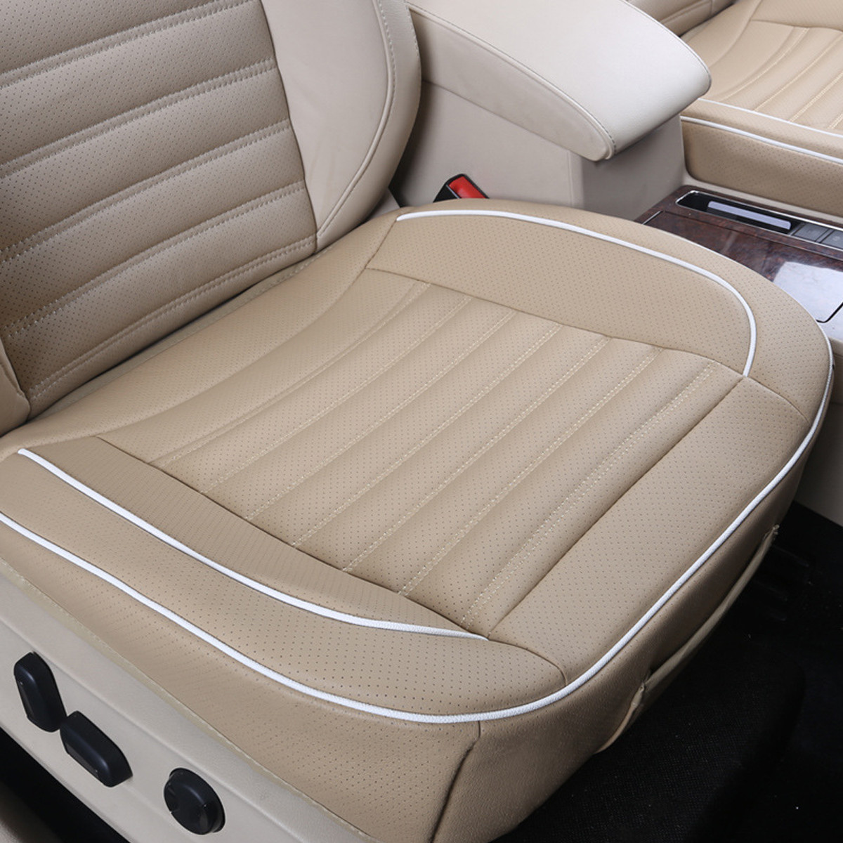 beige chair covers buy modern adirondack plans 50x50cm pu leather car cushion seat cover