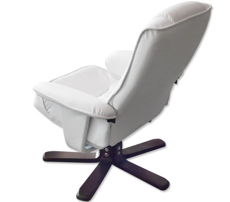 reclining office chairs australia graco duodiner high chair canada recliner foot stool cream white leather swivel