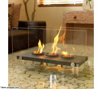 Home Expression Eco Friendly Rectangle Fireplace - 3 Pots ...