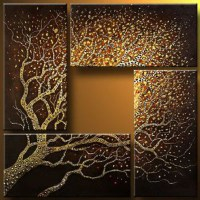 Branches That Reach The Sky Abstract Oil Painting Wall Art ...