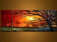 Golden Sunset-Modern Canvas Art Wall Decor-Landscape Oil ...