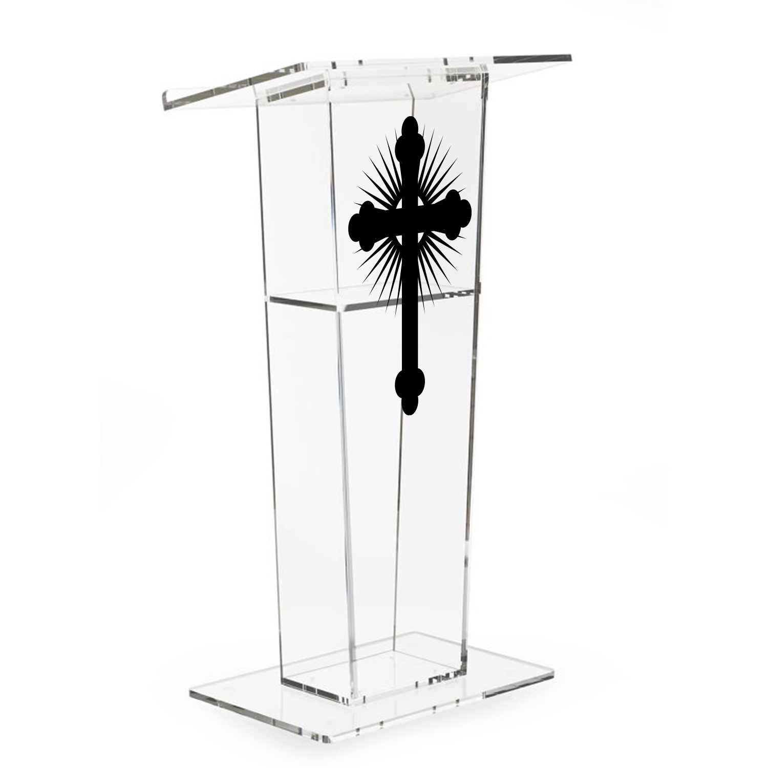 Custom Printed Acrylic Single Shelf Podium Lectern