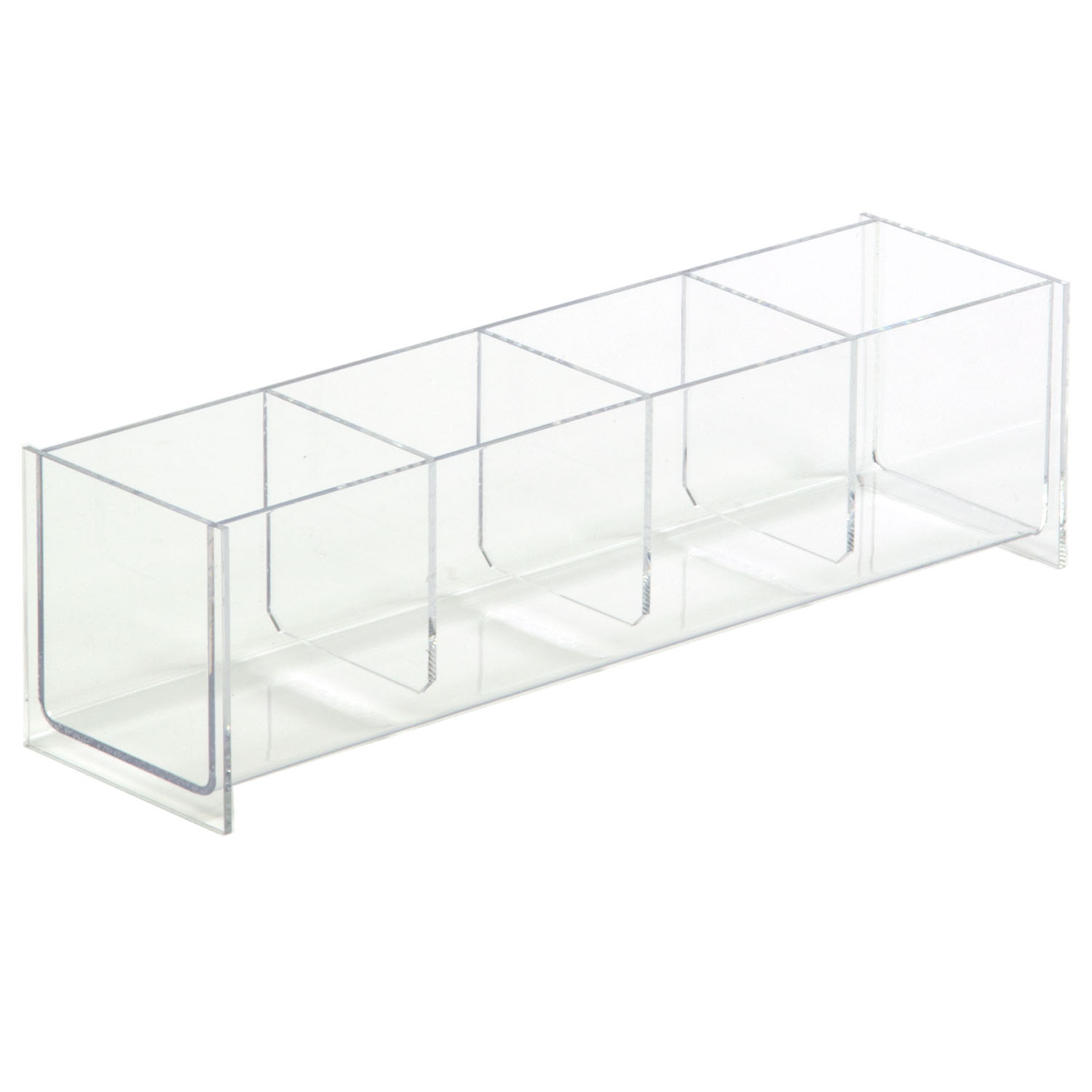 Large Acrylic 4 Compartment Dump Bin