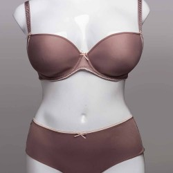 Freya Deco Vibe UW Moulded Plunge Bra with J Hook and Short Set