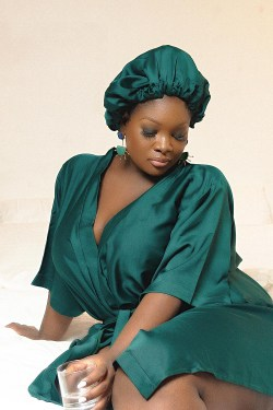 Emerald Robe and Bonnet