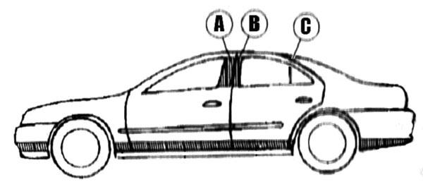 Lincoln Town Car Chrome Pillar Post Trim, 1998, 1999, 2000