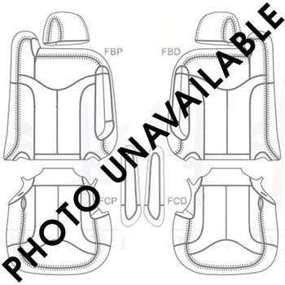 GMC Sierra Crew Cab Katzkin Leather Seat Upholstery (2