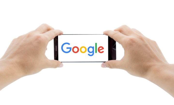 Google Displayed on Phone