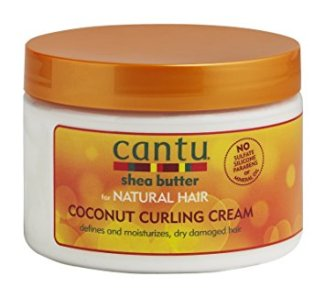 Before Cantu Shea Butter Natural Hair Coconut Curling Cream
