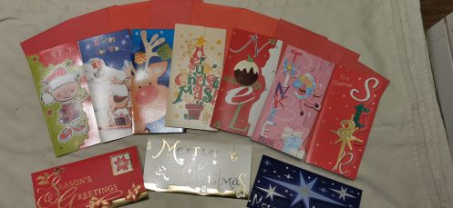 christmas cards money wallet