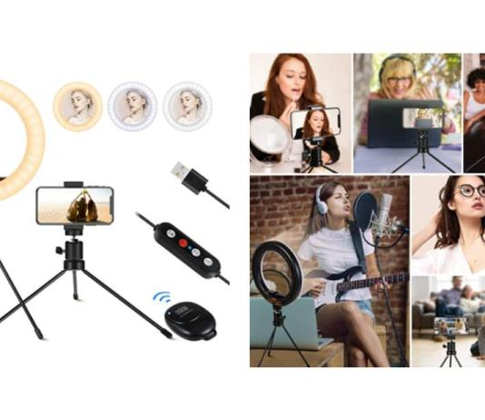 5 Selfie Ring Light with Tripod Stand $100 & above