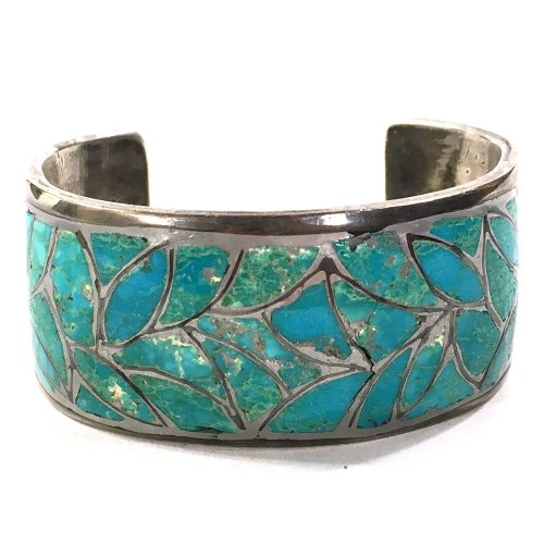 Turquoise Inlay Sterling Silver Bracelet