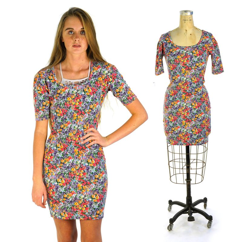 Floral Stretch Mini Dress by Express