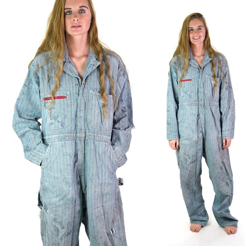 Vintage 50s Mended Rail Chief Coveralls