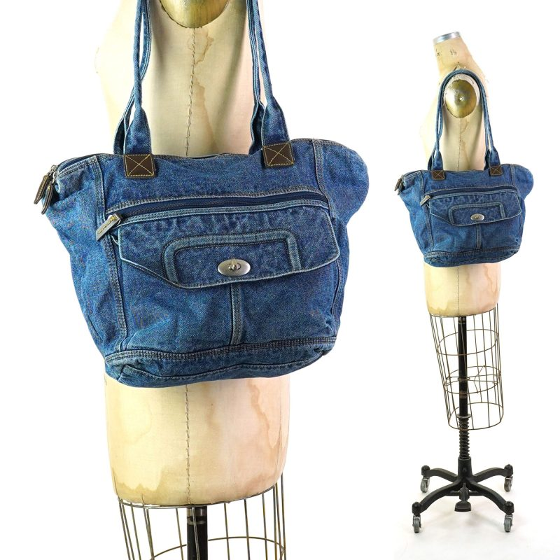 Vintage 90s Denim Shoulder Bag