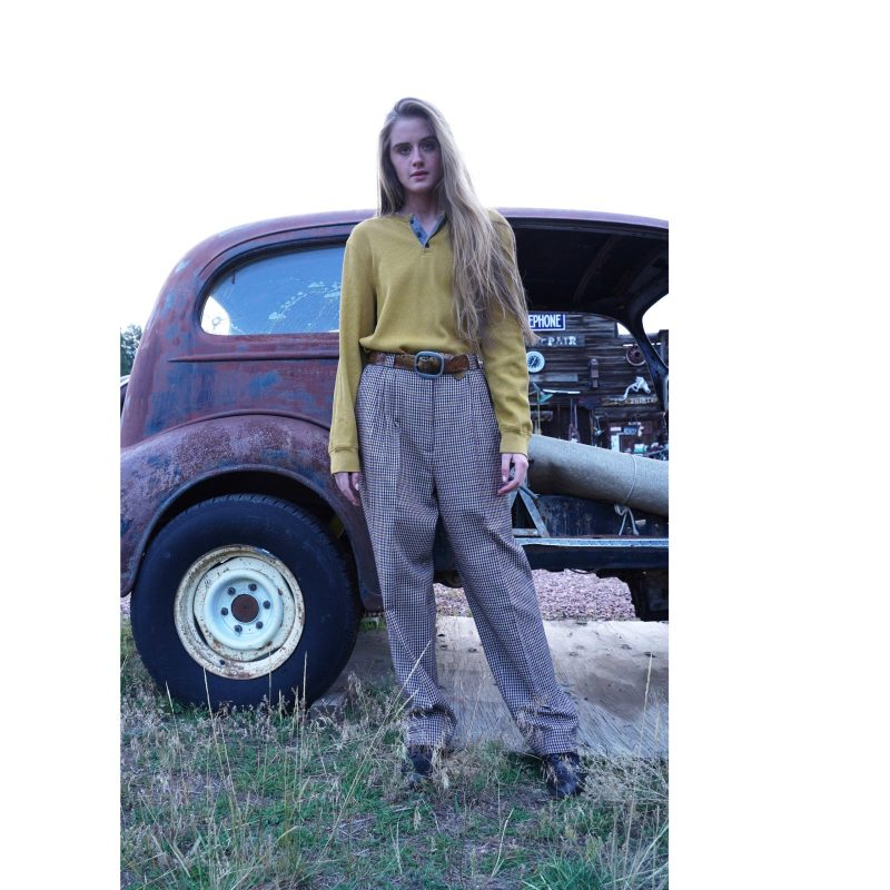 Vintage 80s Plaid Pleated Boyfriend Trousers