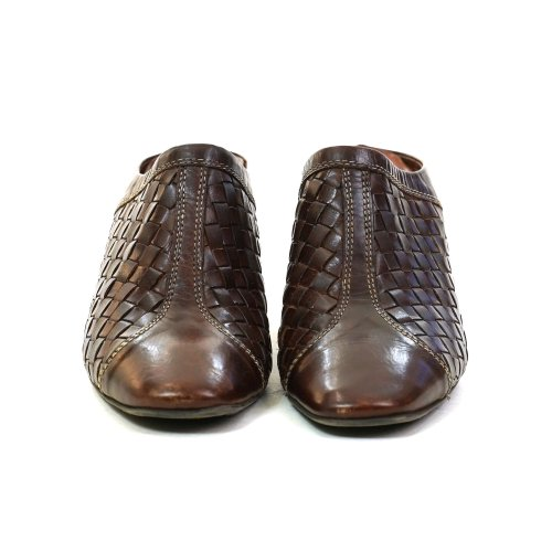 Woven Leather Mules Size 8