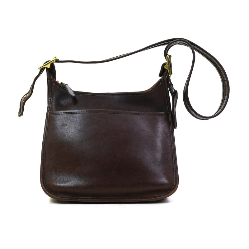 Pre Loved Coach Chocolate Brown Leather Shoulder Bag