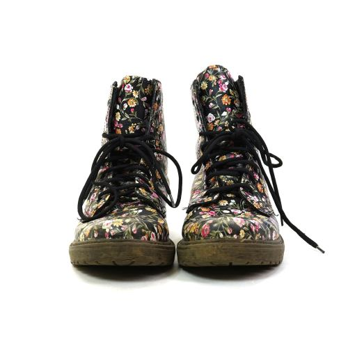 Vintage Floral Leather Lace Up Ankle boots by Aldo Women's Size 7.5