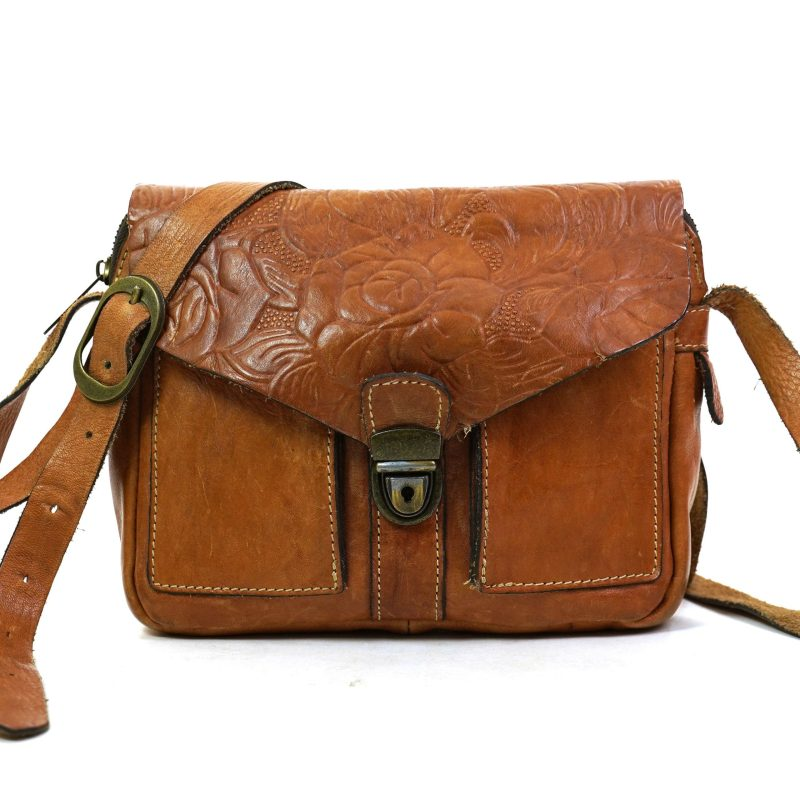 Patricia Nash Tooled Leather Bag with Crossbody Shoulder Strap