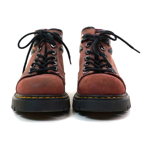Russet Leather Lace Up Platform Ankle Boots Women's Size 8