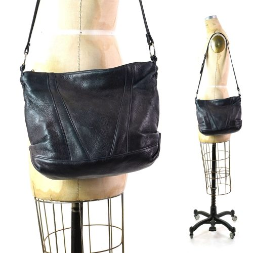 Tignanello Leather Hobo Bag with Long Shoulder Strap